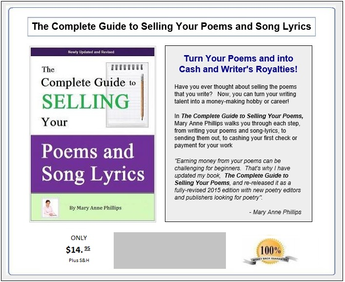 Sell my poems